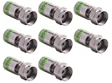 8 Stück - Cabelcon F-Stecker / F-Kompression-Stecker, 5.0mm, Cabelcon CX3 5.0