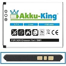 Akku-King Batterie pour Sony-Ericsson Cedar, Elm, Hazel, Mix Walkman-Handy, txt pro, Yari U100i - remplace BST-43 Li-Ion