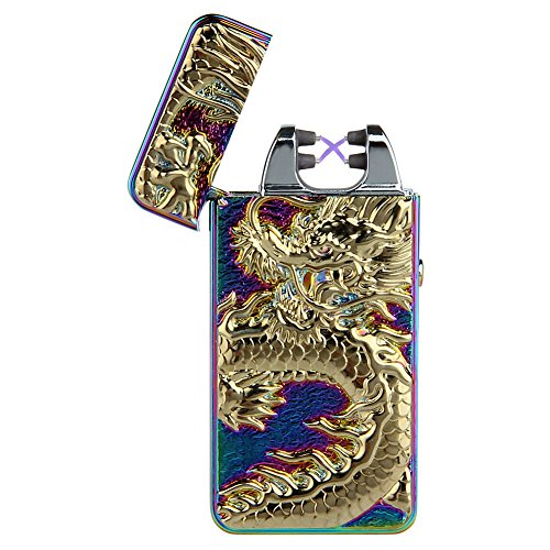 padgene-dragon-briquet-double-arc-electrique-sans-flamme-rechargeable-usb-anti-vent-multicolor