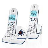 F390 Voice Duo - Téléphone sans fil au design coloré, Répondeur intégré, Pure...