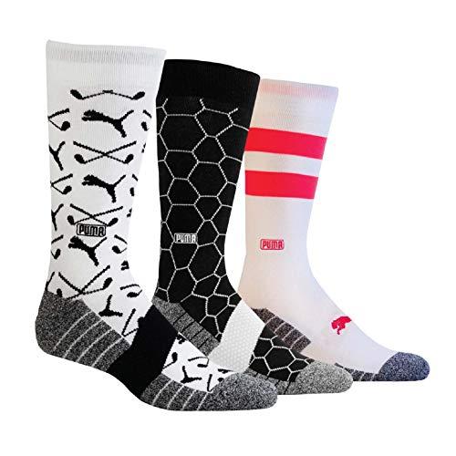Puma Men's Pattern Crew Socks (3 Pair)