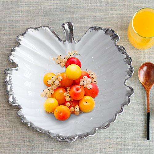 CLG-FLY table basse en céramique créative Shell bols assiette dessert accueil ornements décorations de fruits 27*27cm,2