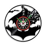 Enregistrement de CD noir horloge Joker le film Design vinyle Record 3D horloge...