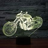 wangZJ 7 Farbe Lampe / 3D Visuelle Led Nachtlichter/Kinder Touch Usb/Baby Schlafen Nachtlicht/Ideale Kunst Und Handwerk/Halloween Geschenk Motorrad