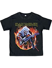 Desconocido Iron Maiden Eddie Bass - Camiseta para niño, Color Negro