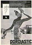 1960 - Inserat / Anzeige: POROLASTIC HELANCA ANZUG CANDIA / BADEMODEN - Format ca. 110x140 mm - alte Werbung / Originalwerbung/ Printwerbung / Anzeigenwerbung / Advertisement