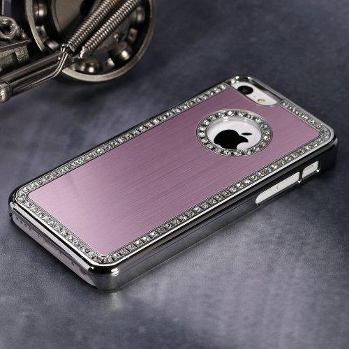 Luxus Bling Glitzer Strassapplikation mit hochwertigen Schutzhülle (pink) für iPhone 5C von TB1 Products (Glitzer 5c Iphone Fall Bling)