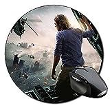Guerra Mundial Z World War Z Brad Pitt A Tappetino Per Mouse Tondo Round Mousepad PC