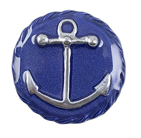 Mariposa Anchor Emblem Napkin Weight, Blue