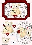 I love you oso de peluche con ilustraciones por Wendy Jones