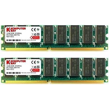 2 Go Komputerbay (2 X 1 Go) DDR PC2700 333Mhz DDR333 (184 broches) mémoire d'ordinateur DIMM