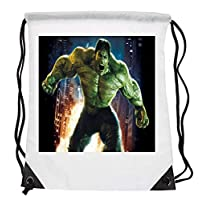 Bunny Organization Breathtaking Hulk Flexing HD Digital Helicopter Bright Fire Explosion City Background Marvel Superhero Lovers Drawstring Folding Gym Bag Perfect for PE School Work Travel Sports