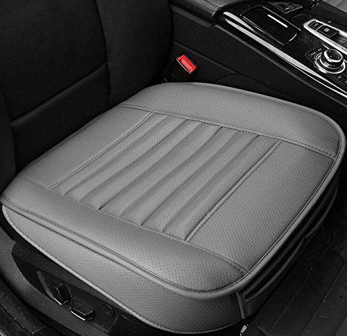 EDEALYN PU-Leder Bambus-Kohle Einzelsitz ohne Rückenlehne Auto-Sitzkissen Autositzabdeckung (Sitzkissen Und Rückenlehne)