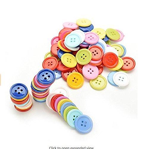 Romote 100 Piezas Redondas Botones de plástico Infantiles de Costura Craft Craft...