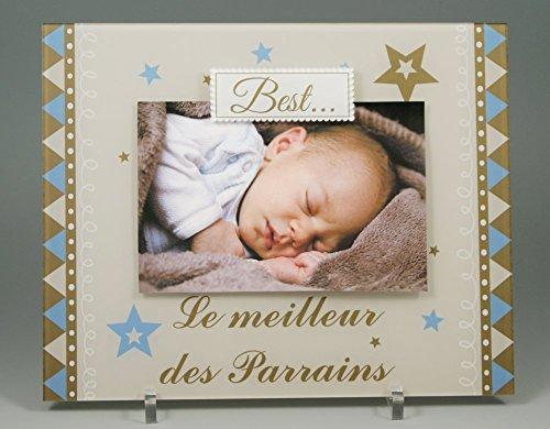 (KdHPrMeil) Cadre Photo Aimant pour Parrain – (Cadeau Parrain Marraine Baptême - Noël)