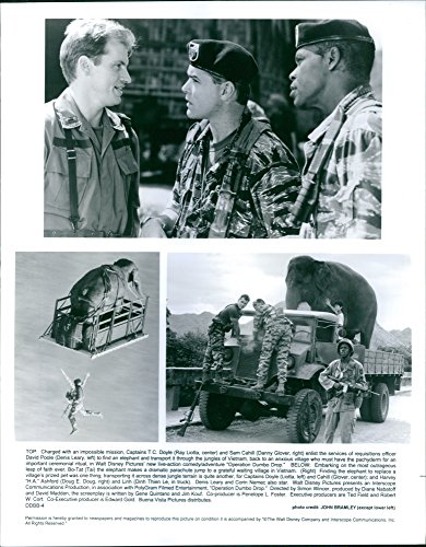 Vintage photo of 1995Three scenes from the film Operation Dumbo Drop.