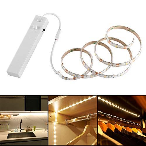 Allright 1m LED Stripe BatterieBetrieben Nachtlicht mit PIR-Bewegungsmelder Lichtband Streifen Batteriebetrieb Band
