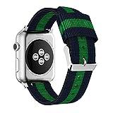 For Apple Watch 38mm,Ouneed ® Nylon tejido correa ajustable de repuesto banda de deporte para Apple Watch 38mm (C)