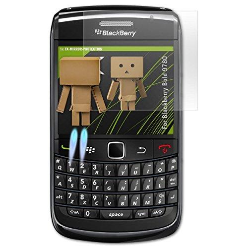 atFolix Displayfolie kompatibel mit BlackBerry Bold 9780 Spiegelfolie, Spiegeleffekt FX Schutzfolie Blackberry Bold Screen Protector