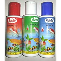 Kapoor Pets 3 in 1 Fish Medicine Pack 120Ml Each (Anti Chlorine, Anti Ich, General Aid)