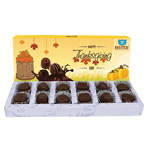 BOGATCHI THANK YOU CHOCOLATE BOX, 15% DARK CHOCOLATES WITH PEANUTS AND BUTTER SCOTCH, 120 G