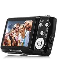 powmax ww-492,7pulgadas TFT 8x zoom óptico 18MP 1280x 720HD cámara de vídeo digital de captura de sonrisa de la vibración (Blak), color negro
