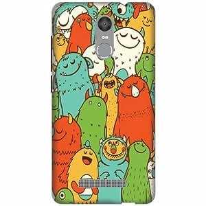 PrintlandDesignerHard Plastic Back Cover For Xiaomi Redmi Note 3 -Multicolor