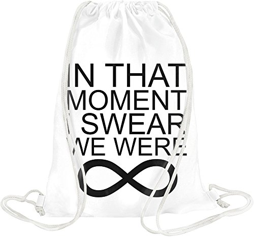 In That Moment I Swear We Were Infinity Slogan Drawstring bag (Infinity Moment)