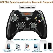 Apple MFi Certificado-PXN 6603 Gamepad Controlador Mando Juego Bluetooth Inalámbrico para iPhone, iPhone7, 7plus, iPad, iTouch, iTunes, App Store iOS 7.0 (Negro)