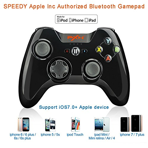Apple MFi zertifizierte PXN-6603 Speedy Bluetooth Gamepad Drahtlos Gamepad Gaming Controller Joystick...
