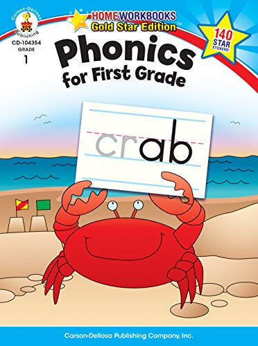 Phonics for First Grade, Grade 1: Gold Star Edition (Home Workbooks: Gold Star Edition)