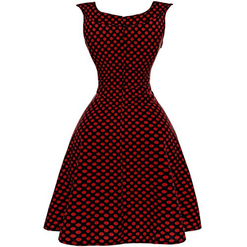 Retro était Mince Taille Grande Robe Swing red