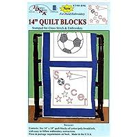 Jack Dempsey-Quadrato di stoffa, motivo stampato, tema: calcio (Confezione da 6)