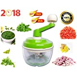 Swanky Collections Brand New Best Quality Apex Vegetable Chop And Churn Chopper | Manual Multipurpose Stainless Steel Blade Vegetable Cutter And Chopper | Atta/Dough Maker | Curd Mixer Machine For Kitchen On Low Price