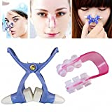 GENERIC 2 Sets Girl Nose Up Shaping Shaper Lifting + Bridge Straightening Women Beauty Nose Clip Face Fitness Facial Clipper Corrector