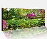 Acrylglasbild 100x40cm Japanischer Garten zen grün Acrylbild Glasbild Acrylglas Acrylglasbilder 14A1376, Acrylglas Größe1:100cmx40cm