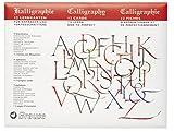 Brause 194B Lernkarten (für Kalligraphie, 10x Lern-Stecker auf 9verschiedenen Alphabet)