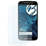 Bruni Schutzfolie für Motorola Moto G (2. Generation 2014) Folie - 2 x glasklare Displayschutzfolie