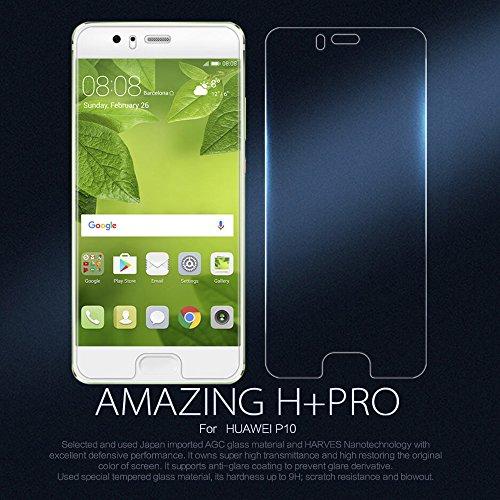 Nillkin Amazing H + Pro 0,22mm con borde curvado 2.5d 9h protector de pantalla de cristal templado para Huawei P10