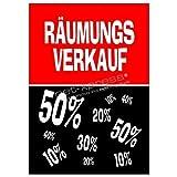 net-xpress® Plakat für den Räumungsverkauf A1, Werbeplakat Poster Werbung Reduziert