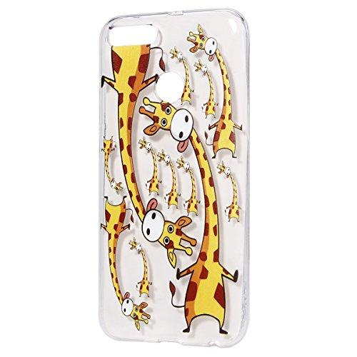 Coque Xiaomi Mi A1, Etui Housse Silicone Transparente pour Xiaomi Mi 5X / Mi A1 avec Dessins, Surakey [Ultra Mince] TPU Bumper Xiaomi Mi 5X / Mi A1 Coque Protection avec Impression de Motifs Souple Housse Protecteur Cas en Caoutchouc Ultra Fine Premium Semi Hybrid Crystal Clair Case Cover Flex Soft Skin Arriere Thin Fit Téléphone Couverture avec Absorption de Choc Slim Gel Coque Housse Étui pour Xiaomi Mi 5X / Mi A1, Girafe