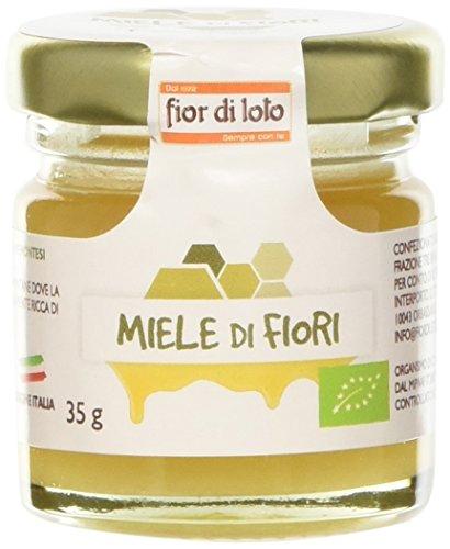 Fior di Loto Mini Miele di Fiori delle Alpi Piemontesi - 8 Pezzi da 35 gr