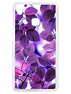 Vivo V3 Back Cover - Purple Leaves - Be With Nature - Transparent Sides
