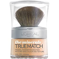 L'Oréal Paris True Match, Fondotinta in polvere minerale, 10 g, W3
