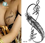 Temporäre Körperkunst Entfernbare Tattoo Aufkleber Feder - HC1181 Sticker Tattoo Temporary Tattoo - FashionLife