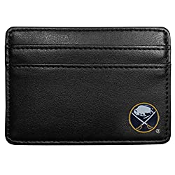 NHL Buffalo Sabres Leather Weekend Wallet, Black