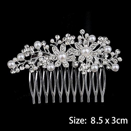 Miaoo Haarkamm mit Diamanten für Damen, Brautschmuck, Haarclip