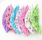 6paires de tissu non tissé Envers antidérapant Couvre-chaussures Floral Couleur Candy Couleur lavable réutilisable respirant à la poussière Sol protecteurs Couvre-chaussures Couleur aléatoire