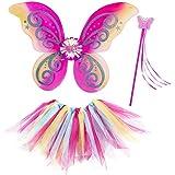 Accesorios princesa de hadas arcoíris niña