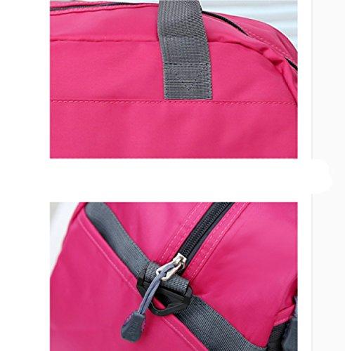 LAIDAYE Großvolumige Tragbare Gepäcktaschen Sporttasche Fitnesstasche Große Kapazität Handtasche Blue
